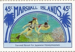 marshall islands japanese honeymooners