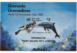 minisheet grenada grenadines world communication year 1983