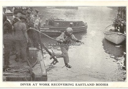 diver work recovering eastland bodies
